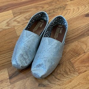 Toms | Flats | Sparkly & Silver | 6.5